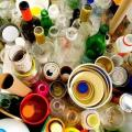 Destinação de resíduos de vidro