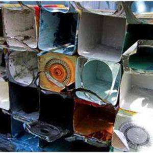 Coleta de latas de tinta
