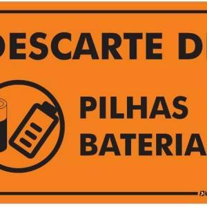 Descarte de baterias e pilhas