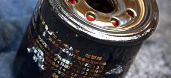 Coleta de filtro de óleo usado